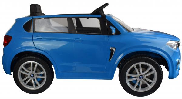 Masinuta electrica Premier BMW X5M, 12V, roti cauciuc EVA, scaun piele ecologica, albastru 9