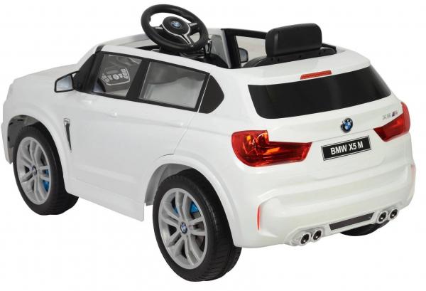 Masinuta electrica SUV Premier BMW X5M, 12V, roti cauciuc EVA, scaun piele ecologica, alb [2]