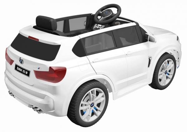 Masinuta electrica SUV Premier BMW X5M, 12V, roti cauciuc EVA, scaun piele ecologica, alb [3]