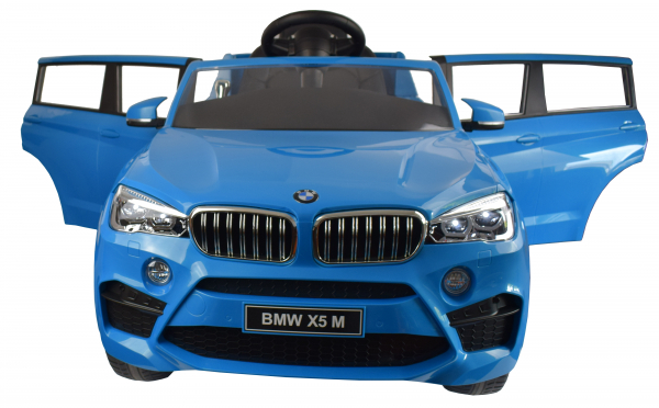 Masinuta electrica Premier BMW X5M, 12V, roti cauciuc EVA, scaun piele ecologica, albastru 1