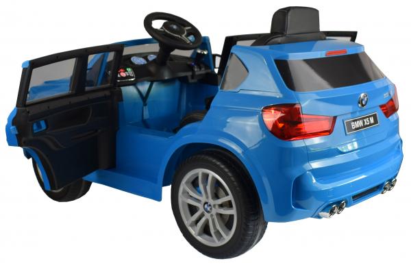 Masinuta electrica Premier BMW X5M, 12V, roti cauciuc EVA, scaun piele ecologica, albastru 14