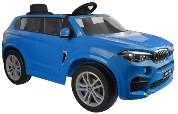 Masinuta electrica Premier BMW X5M, 12V, roti cauciuc EVA, scaun piele ecologica, albastru 8