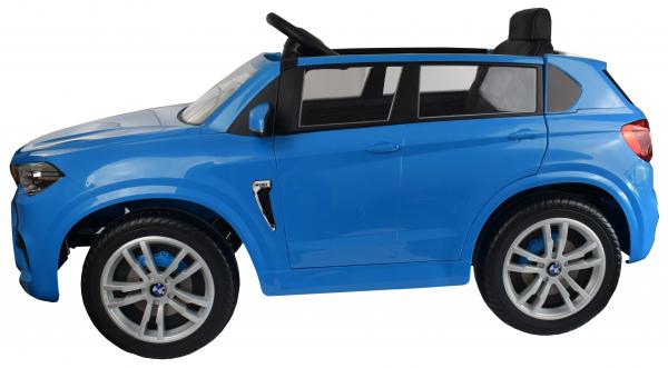 Masinuta electrica Premier BMW X5M, 12V, roti cauciuc EVA, scaun piele ecologica, albastru 5