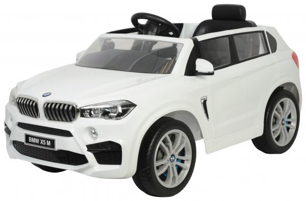 Masinuta electrica SUV Premier BMW X5M, 12V, roti cauciuc EVA, scaun piele ecologica, alb [0]