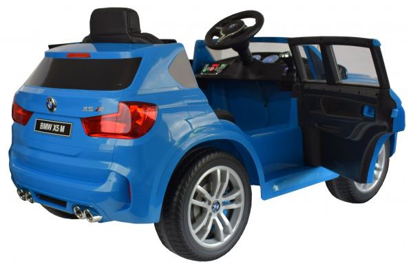 Masinuta electrica Premier BMW X5M, 12V, roti cauciuc EVA, scaun piele ecologica, albastru 12