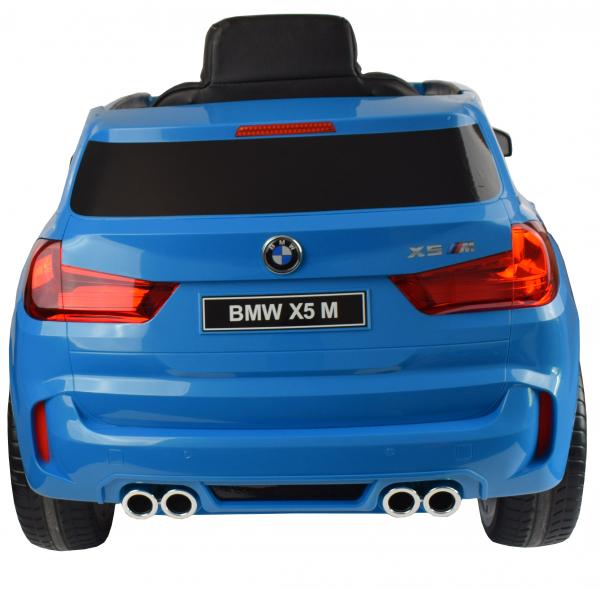 Masinuta electrica Premier BMW X5M, 12V, roti cauciuc EVA, scaun piele ecologica, albastru 2