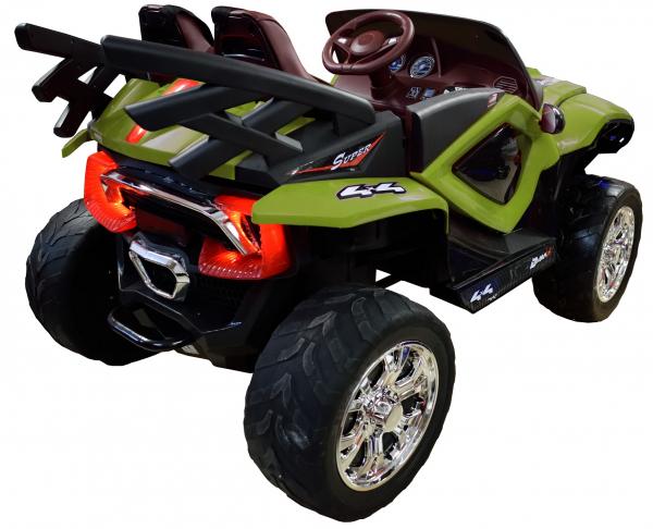 Masinuta electrica 4x4 Premier D-Max, 12V, roti cauciuc EVA, scaun piele ecologica, verde [3]