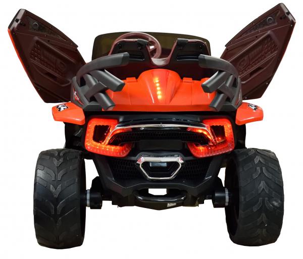 Masinuta electrica 4x4 Premier D-Max, 12V, roti cauciuc EVA, scaun piele ecologica, rosie [1]