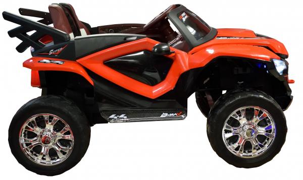 Masinuta electrica 4x4 Premier D-Max, 12V, roti cauciuc EVA, scaun piele ecologica, rosie [6]