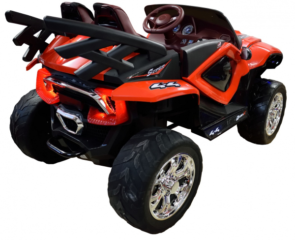 Masinuta electrica 4x4 Premier D-Max, 12V, roti cauciuc EVA, scaun piele ecologica, rosie [9]