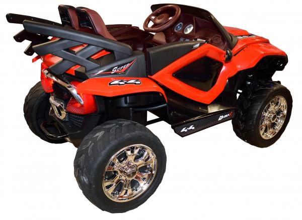 Masinuta electrica 4x4 Premier D-Max, 12V, roti cauciuc EVA, scaun piele ecologica, rosie [10]