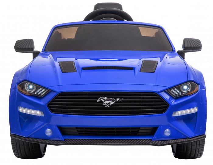 Masinuta electrica Premier Ford Mustang, 12V, roti cauciuc EVA, scaun piele ecologica, albastru [2]