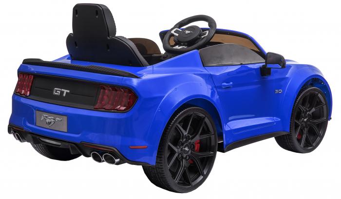 Masinuta electrica Premier Ford Mustang, 12V, roti cauciuc EVA, scaun piele ecologica, albastru [10]