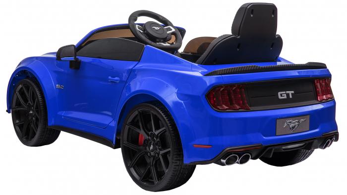 Masinuta electrica Premier Ford Mustang, 12V, roti cauciuc EVA, scaun piele ecologica, albastru [6]