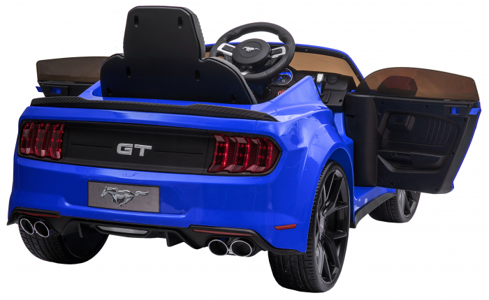 Masinuta electrica Premier Ford Mustang, 12V, roti cauciuc EVA, scaun piele ecologica, albastru [15]