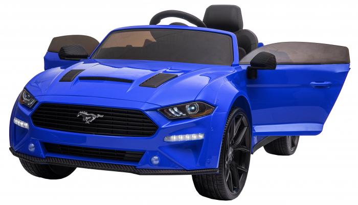 Masinuta electrica Premier Ford Mustang, 12V, roti cauciuc EVA, scaun piele ecologica, albastru [1]