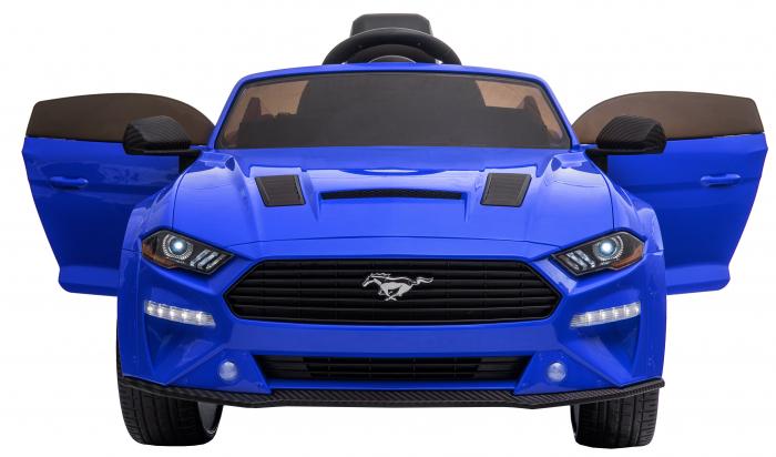 Masinuta electrica Premier Ford Mustang, 12V, roti cauciuc EVA, scaun piele ecologica, albastru [12]