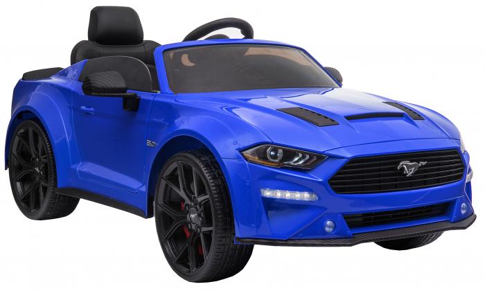 Masinuta electrica Premier Ford Mustang, 12V, roti cauciuc EVA, scaun piele ecologica, albastru [11]