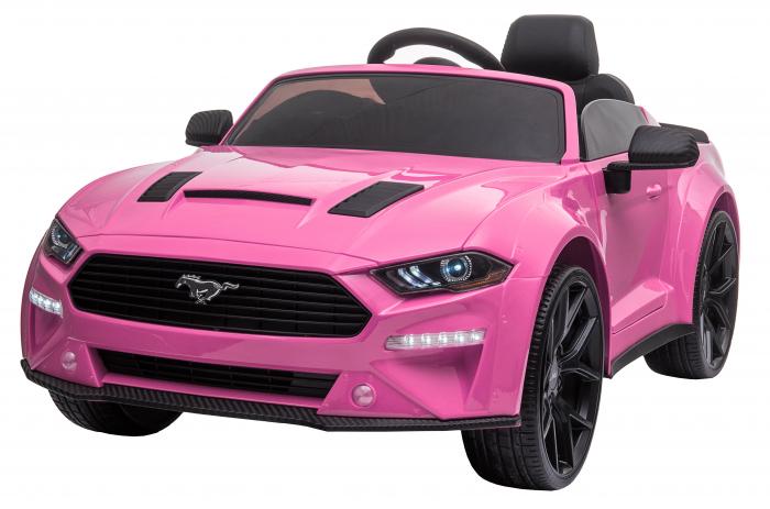 Masinuta electrica Premier Ford Mustang, 12V, roti cauciuc EVA, scaun piele ecologica, roz [0]