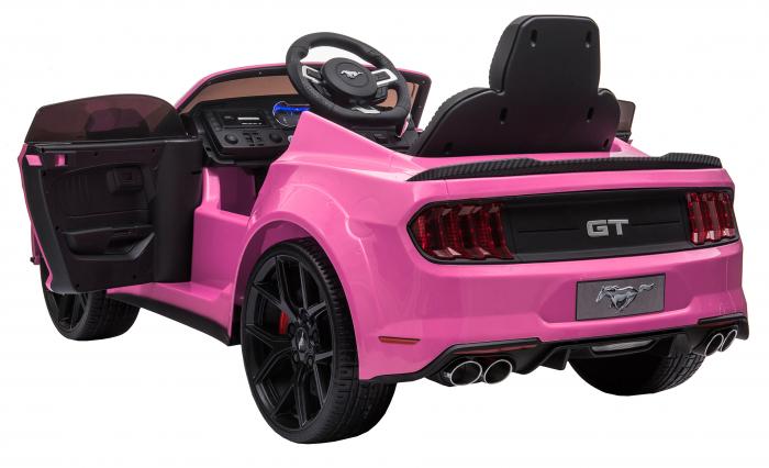 Masinuta electrica Premier Ford Mustang, 12V, roti cauciuc EVA, scaun piele ecologica, roz [14]