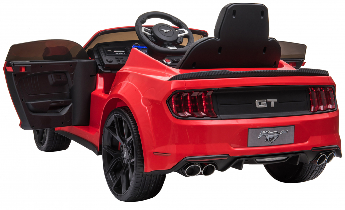 Masinuta electrica Premier Ford Mustang, 12V, roti cauciuc EVA, scaun piele ecologica, rosu [15]