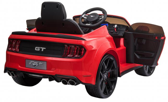 Masinuta electrica Premier Ford Mustang, 12V, roti cauciuc EVA, scaun piele ecologica, rosu [17]