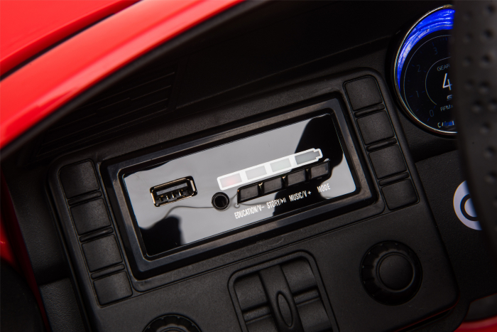 Masinuta electrica Premier Ford Mustang, 12V, roti cauciuc EVA, scaun piele ecologica, rosu [25]
