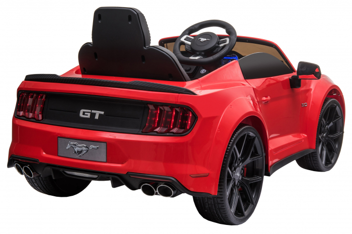 Masinuta electrica Premier Ford Mustang, 12V, roti cauciuc EVA, scaun piele ecologica, rosu [10]