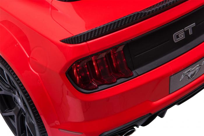 Masinuta electrica Premier Ford Mustang, 12V, roti cauciuc EVA, scaun piele ecologica, rosu [30]