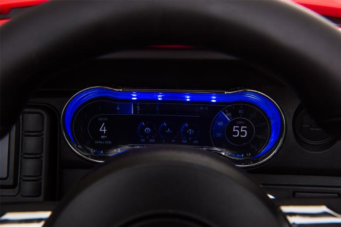 Masinuta electrica Premier Ford Mustang, 12V, roti cauciuc EVA, scaun piele ecologica, rosu [26]