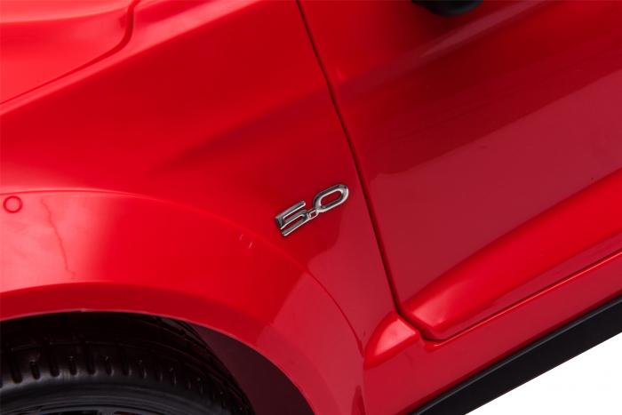 Masinuta electrica Premier Ford Mustang, 12V, roti cauciuc EVA, scaun piele ecologica, rosu [22]