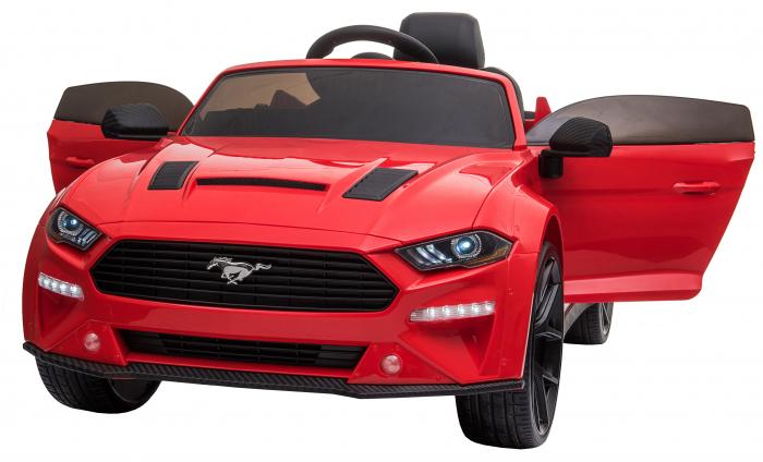 Masinuta electrica Premier Ford Mustang, 12V, roti cauciuc EVA, scaun piele ecologica, rosu [1]