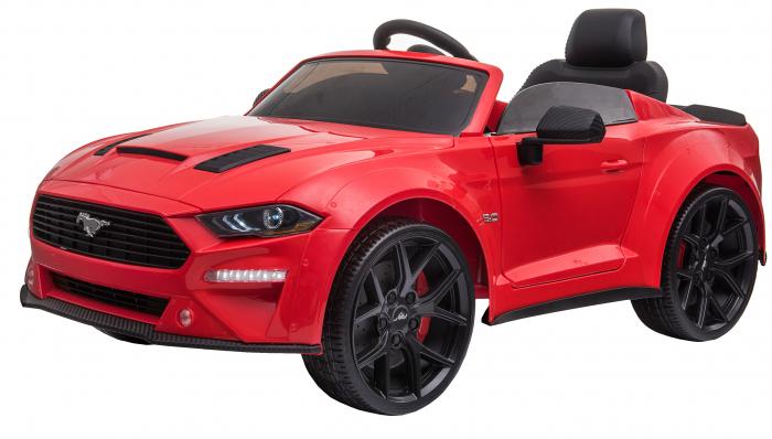 Masinuta electrica Premier Ford Mustang, 12V, roti cauciuc EVA, scaun piele ecologica, rosu [5]