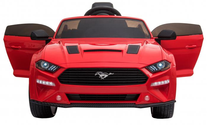 Masinuta electrica Premier Ford Mustang, 12V, roti cauciuc EVA, scaun piele ecologica, rosu [13]