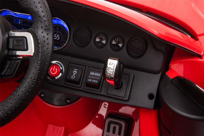 Masinuta electrica Premier Ford Mustang, 12V, roti cauciuc EVA, scaun piele ecologica, rosu [27]
