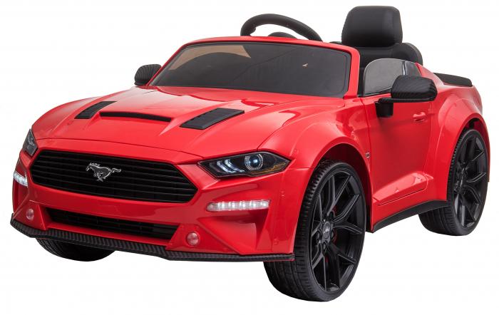 Masinuta electrica Premier Ford Mustang, 12V, roti cauciuc EVA, scaun piele ecologica, rosu [3]