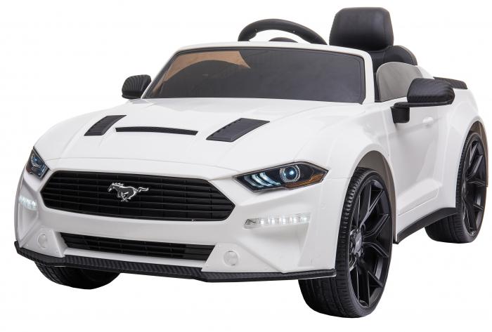 Masinuta electrica Premier Ford Mustang, 12V, roti cauciuc EVA, scaun piele ecologica, alb [3]