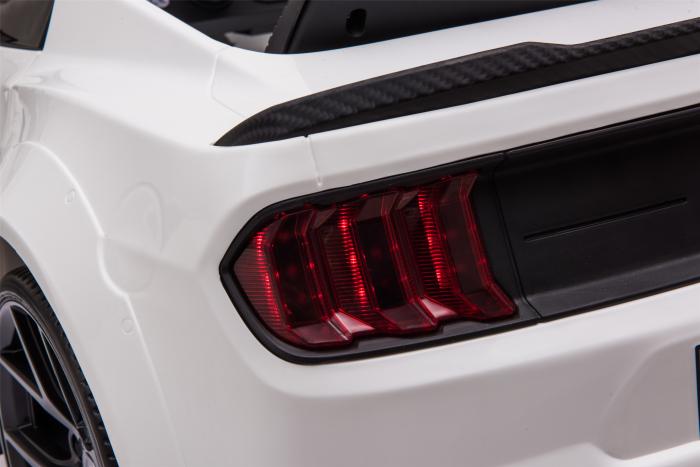 Masinuta electrica Premier Ford Mustang, 12V, roti cauciuc EVA, scaun piele ecologica, alb [29]
