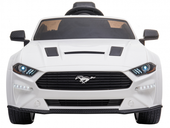 Masinuta electrica Premier Ford Mustang, 12V, roti cauciuc EVA, scaun piele ecologica, alb [2]