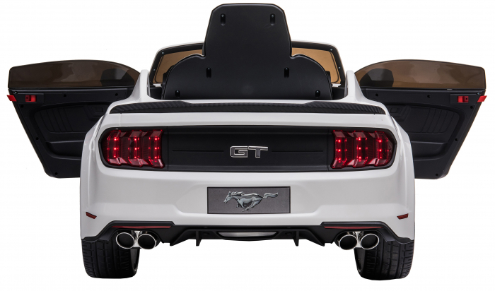 Masinuta electrica Premier Ford Mustang, 12V, roti cauciuc EVA, scaun piele ecologica, alb [16]