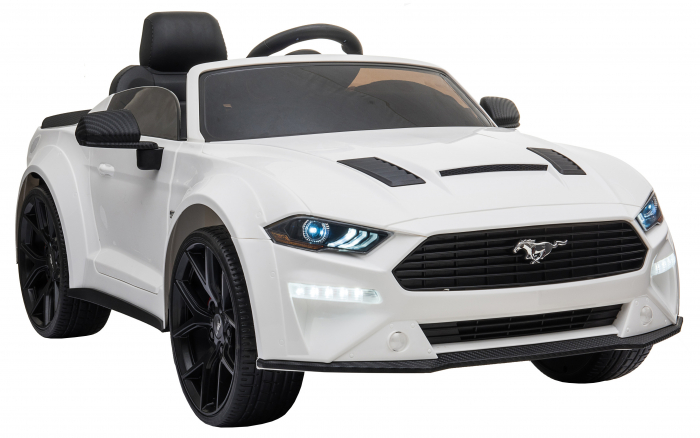 Masinuta electrica Premier Ford Mustang, 12V, roti cauciuc EVA, scaun piele ecologica, alb [12]