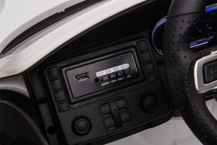 Masinuta electrica Premier Ford Mustang, 12V, roti cauciuc EVA, scaun piele ecologica, alb [25]
