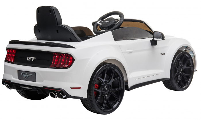 Masinuta electrica Premier Ford Mustang, 12V, roti cauciuc EVA, scaun piele ecologica, alb [10]