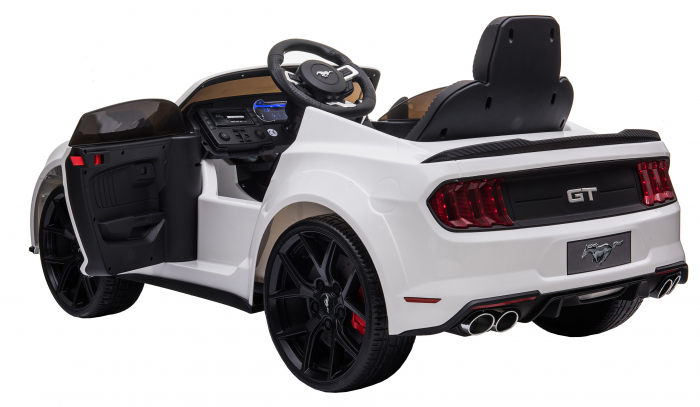 Masinuta electrica Premier Ford Mustang, 12V, roti cauciuc EVA, scaun piele ecologica, alb [15]