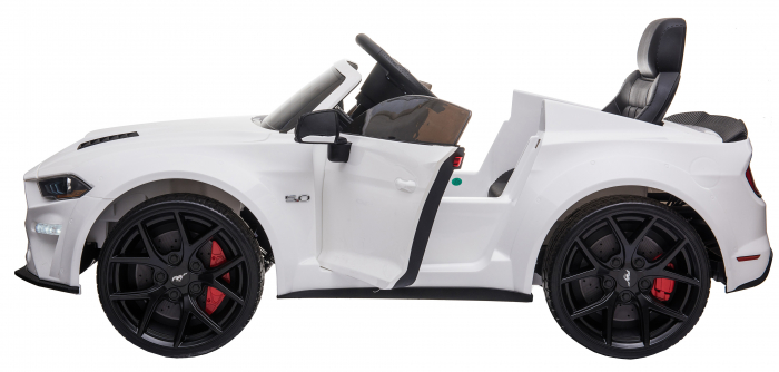 Masinuta electrica Premier Ford Mustang, 12V, roti cauciuc EVA, scaun piele ecologica, alb [14]