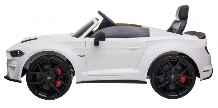Masinuta electrica Premier Ford Mustang, 12V, roti cauciuc EVA, scaun piele ecologica, alb [6]