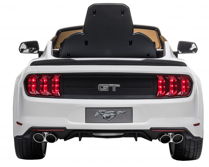 Masinuta electrica Premier Ford Mustang, 12V, roti cauciuc EVA, scaun piele ecologica, alb [8]