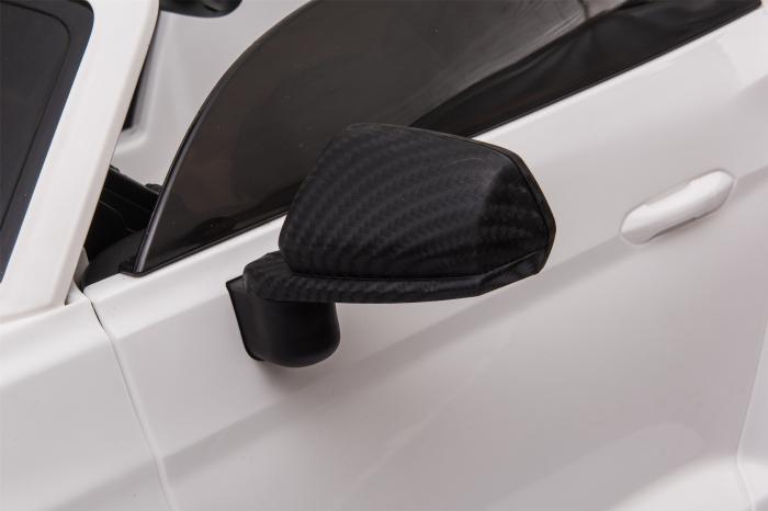 Masinuta electrica Premier Ford Mustang, 12V, roti cauciuc EVA, scaun piele ecologica, alb [23]