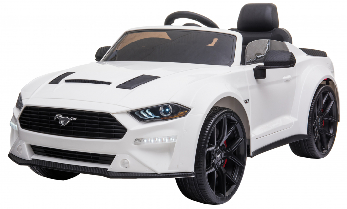 Masinuta electrica Premier Ford Mustang, 12V, roti cauciuc EVA, scaun piele ecologica, alb [4]
