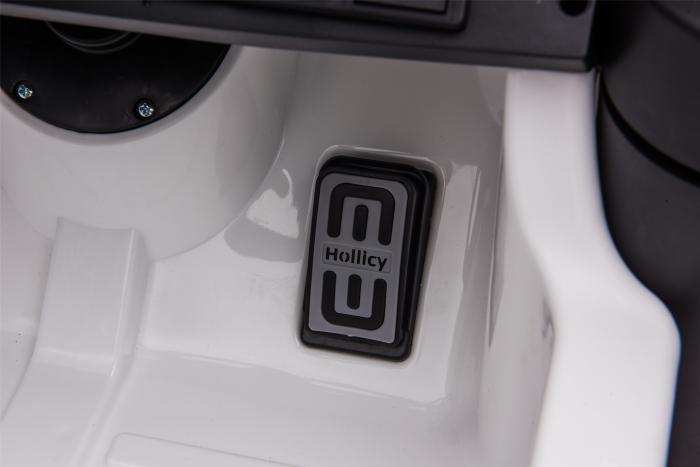 Masinuta electrica Premier Ford Mustang, 12V, roti cauciuc EVA, scaun piele ecologica, alb [27]